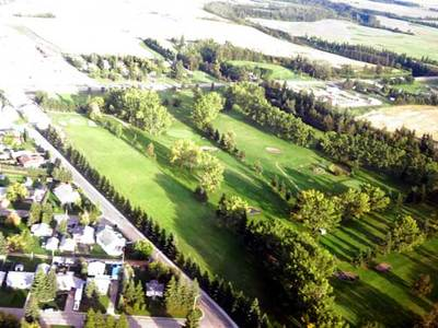 Aerial view of paddle river golf course from the north west